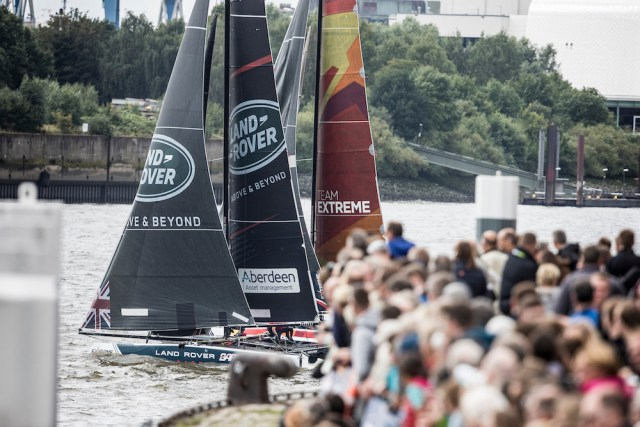 The Extreme Sailing Series 2017. Act5. Racing on day 4.Credit: Lloyd Images