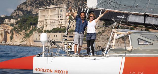 Monaco Globe , Isabelle Joschke, IMOCA
