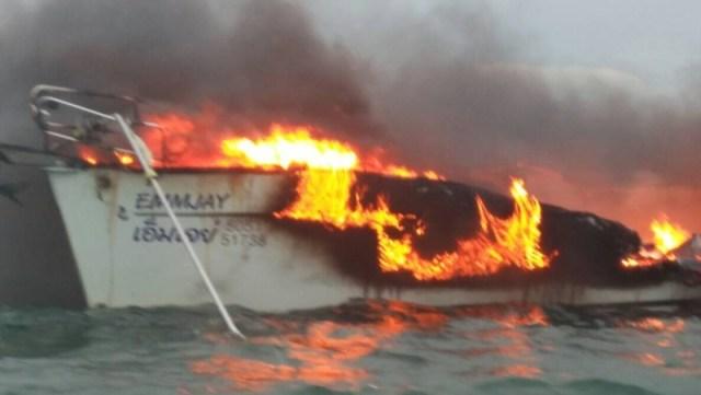 Blitz, Feuer, Yacht
