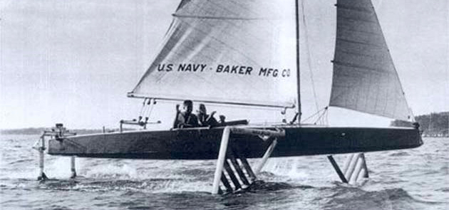 Pioniere, Hydrofoil, Segeln
