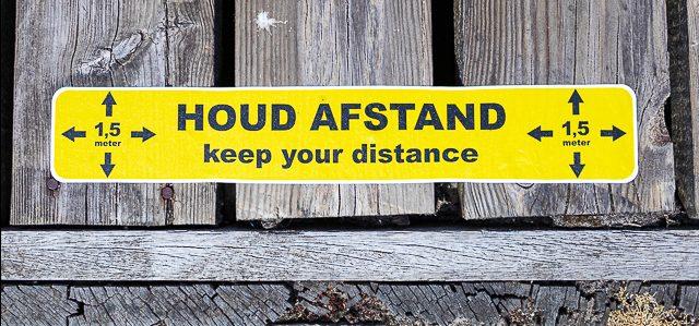 houd afstand
