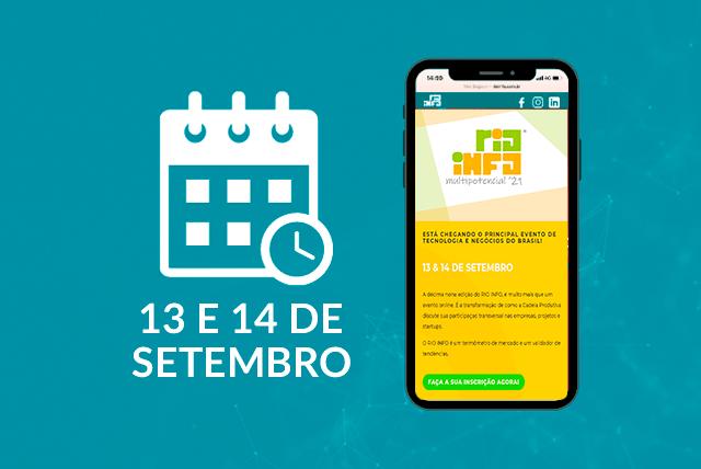 O evento Rio Info 2021 – Multipotencial '21, acontecerá de forma integralmente digital devido às medidas de isolamento social. Mas ainda assim, a organização se propôs a trazer uma agenda repleta de conteúdos e convidados especiais.