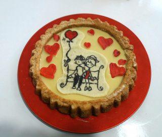 crostata morbida con albumi per San Valentino