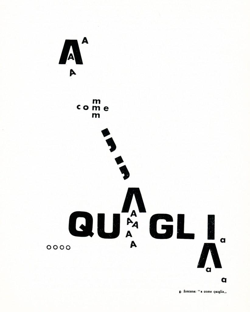 © 1972 Giovanni Fontana,  A come quaglia