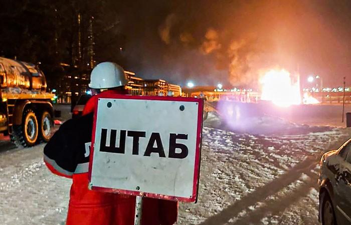 Источник сообщил о двух взрывах на НПЗ «Лукойла» в Коми