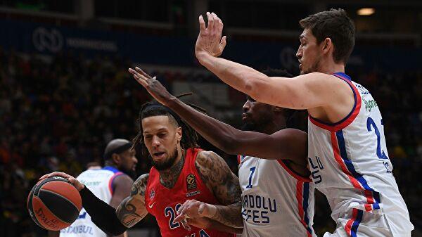 Баскетболисты ЦСКА проиграли «Анадолу Эфес» в матче Евролиги
