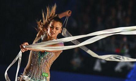 Гимнастка Солдатова приняла участие в церемонии награждения на ГП