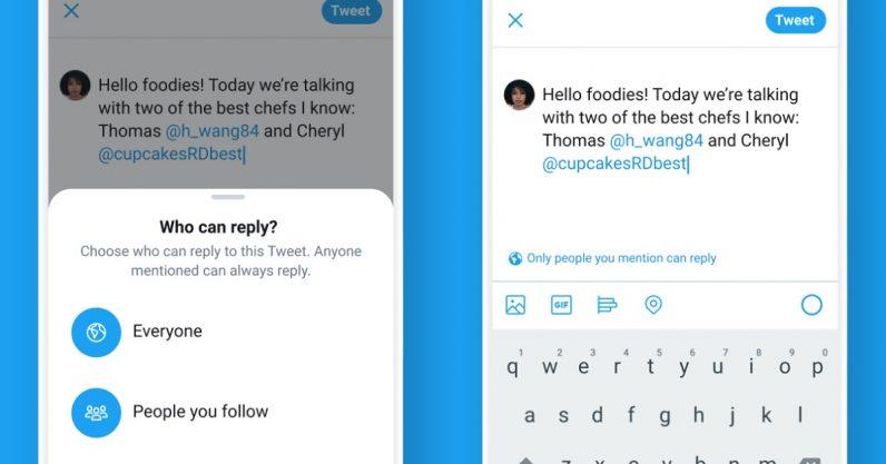 Твиттер разрешил выбирать тех, кто может ответить на ваш твит