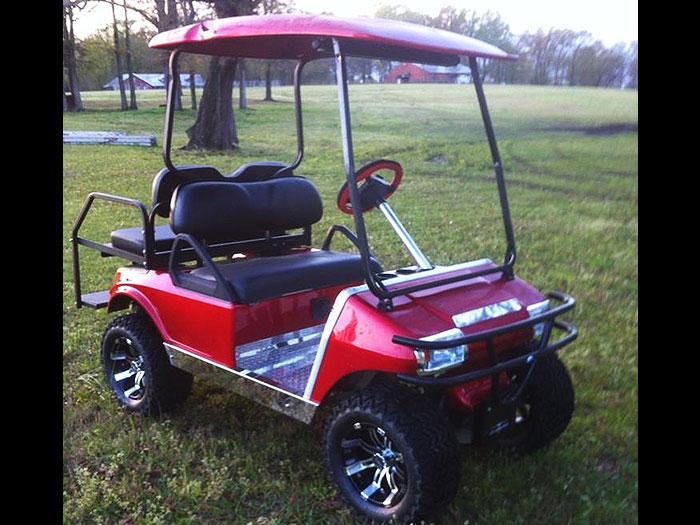 Custom Metallic Red Club Car DS - Southeastern Carts