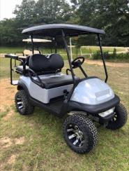 Grey dipped custom painted golf cart