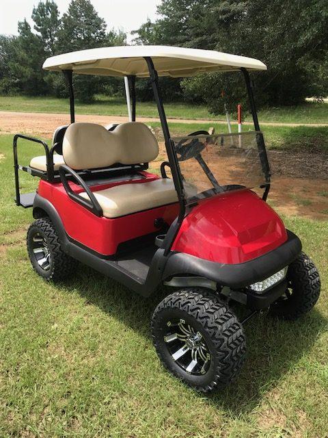 Custom Red & Tan lifted cart