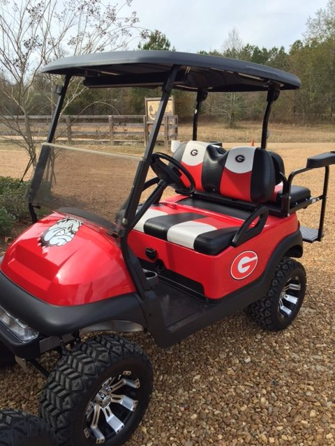 Lifted Georgia Bulldogs Golf Cart Yamaha