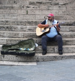 Les musiciens de la rue en Italie (2/2)