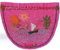 Bolso bordado por Roselaine Chicharo Batista