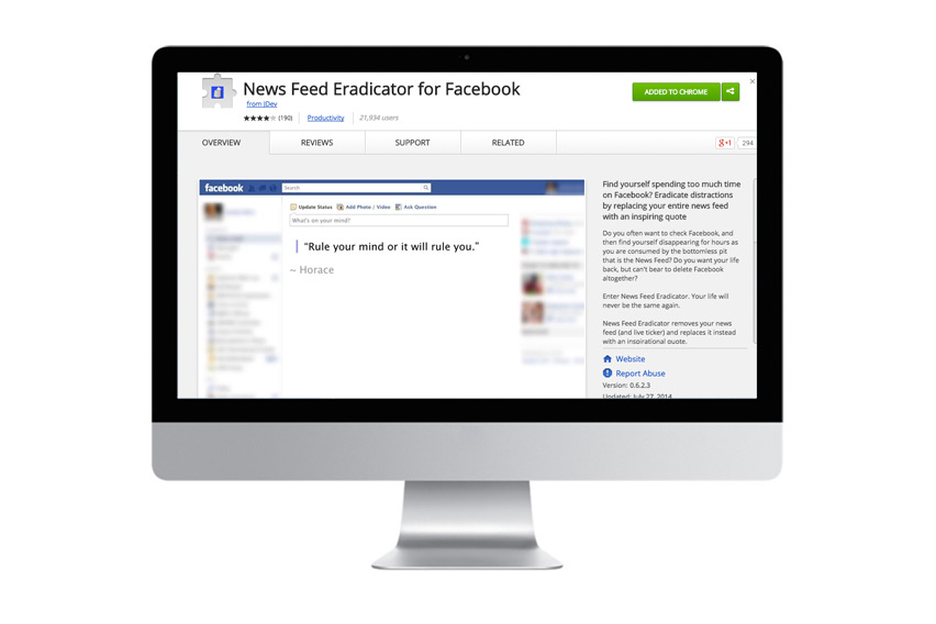 News Feed Erradicator