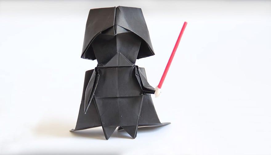 Dude... aragami! Não é Origami! Embora... yah, deixa estar... ninja Vader!