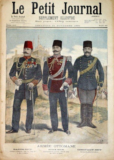 קציני צבא תורכים סביב 1895