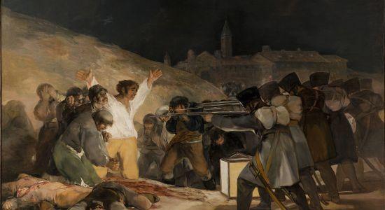 """Imagem: """"Três de maio de 1808 em Madrid"""", 1814. 2,68cm x 3,47cm. Museu do Prado, Madrid."""