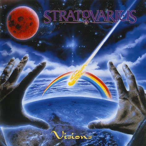 "Capa do álbum ""Visions"" da banda Stratovarius"