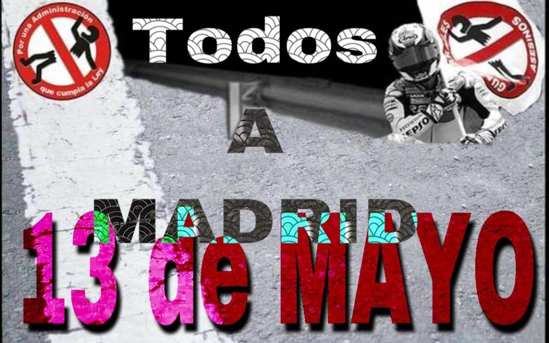 Domingo 13 de mayo en Madrid. Convocatoria manifestación.