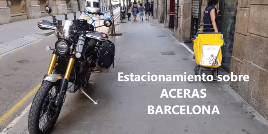 Estacionamiento en aceras… caso Barcelona.
