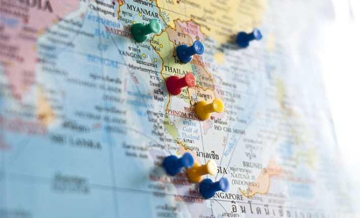 seguro viagem sudeste asiático mapa