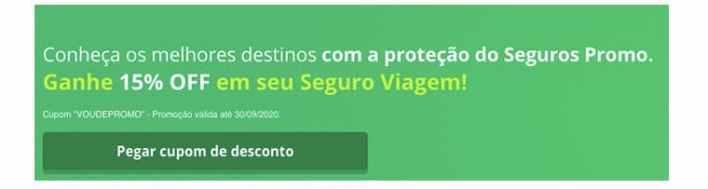 Cupom de desconto Multi seguro viagem Seguros Promo