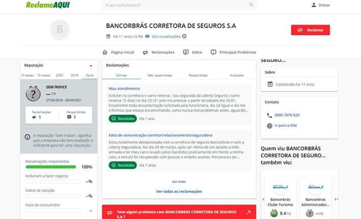 Bancorbrás Reclame Aqui