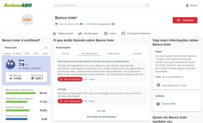 Seguro viagem Banco Inter Reclameaqui