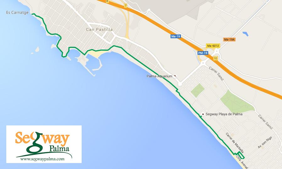 Ruta segway Playa de Palma - Mallorca