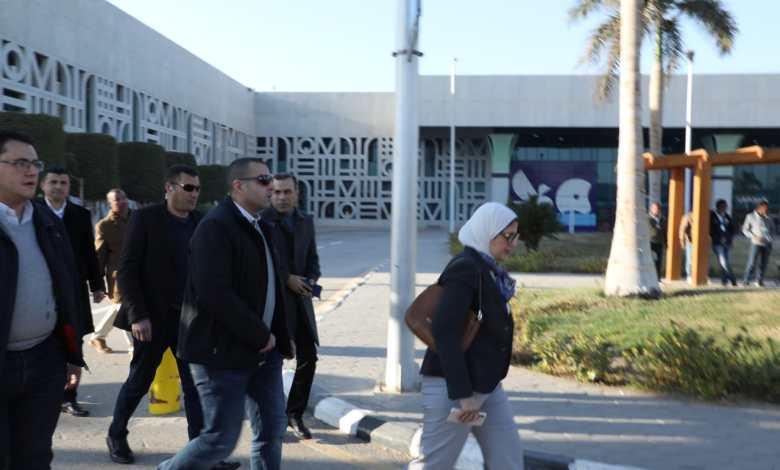 وزيرة الصحة مطار الاقصر
