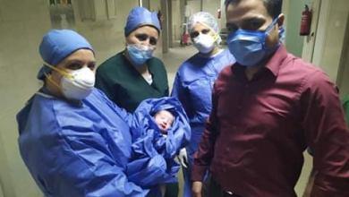Photo of مولودان جديدان فى مستشفى العجوزة من رحم الكورونا