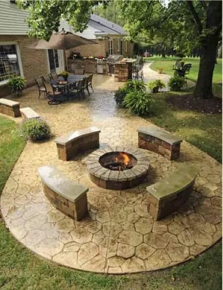 30+ Best Stone Patio Ideas for Your Outdoor Patio in Backyard on Backyard Masonry Ideas id=95803