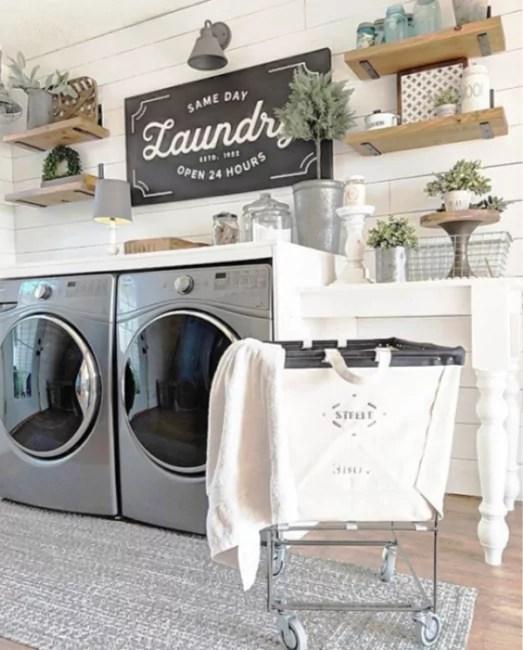 20 farmhouse laundry room ideas that