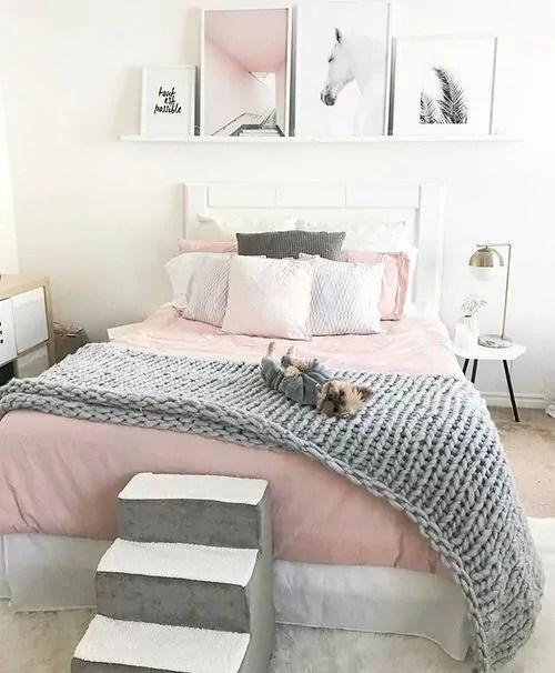 25+ Fascinating Teenage Girl Bedroom Ideas with Beautiful ... on Teenage Grey Small Bedroom Ideas  id=22902