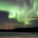 Kalte und leuchtende Polarnacht