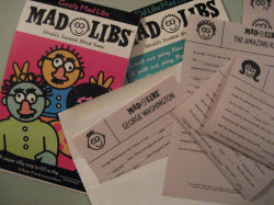 image of mad libs pads