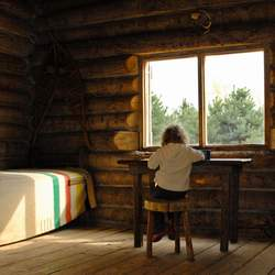 thinking in a cabin