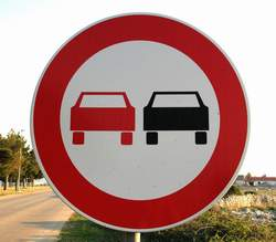 double parking sign