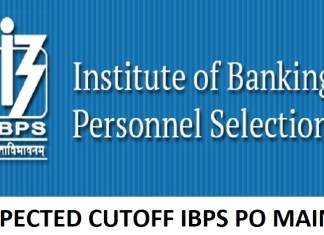 expected cutoff ibps po mains 2018