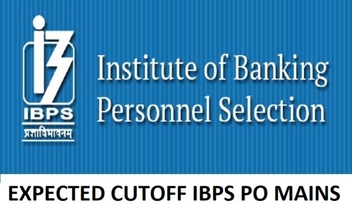 expected cutoff ibps po mains 2018
