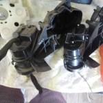GE6フィットのドアミラーターンセット交換修理