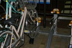 bezahlter Fahrradparkplatz