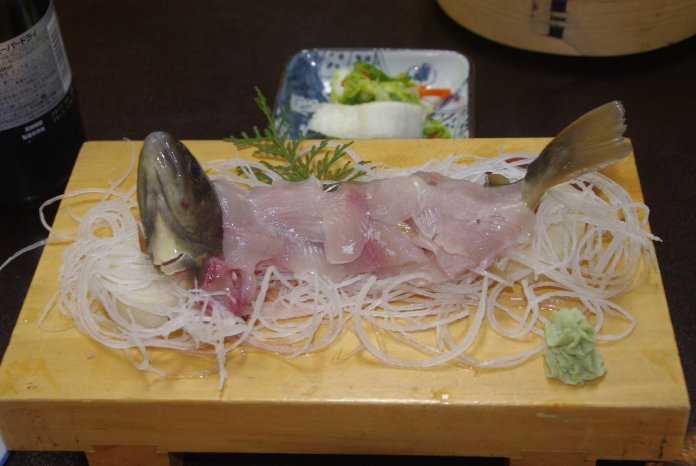 Hanaya, Tsumago, Sashimi