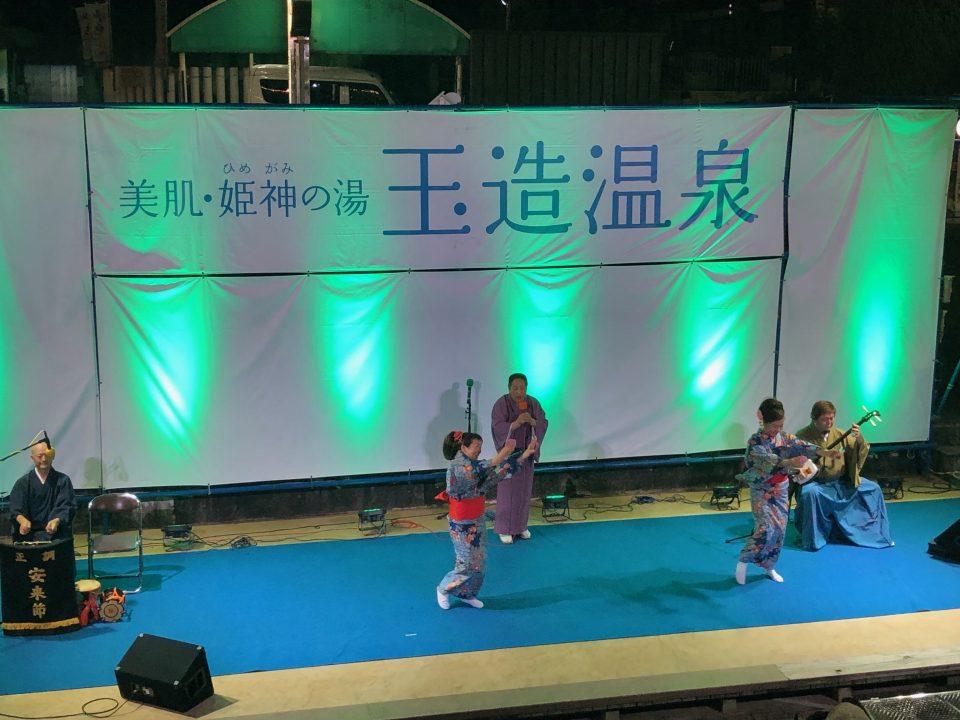 【玉造温泉夏祭り:ステージイベント夜店】~2019年は7月20日(土)から、43日間開催~ ※写真は2018年開催の様子