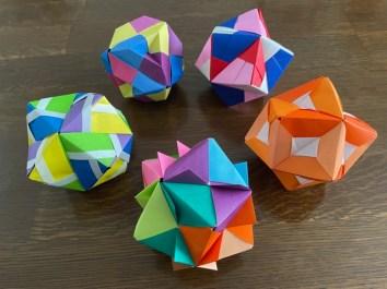 多面体折紙5種類