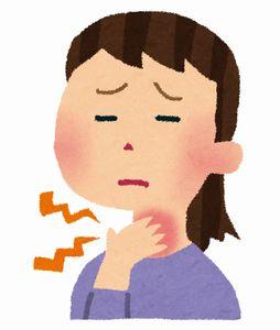 花粉症の喉の痛み