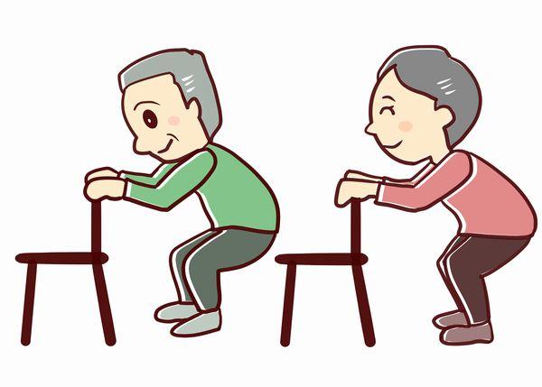 椅子を使ったスクワット