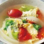 レタス卵スープ