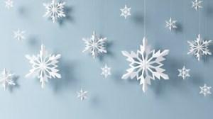切り紙の雪の結晶
